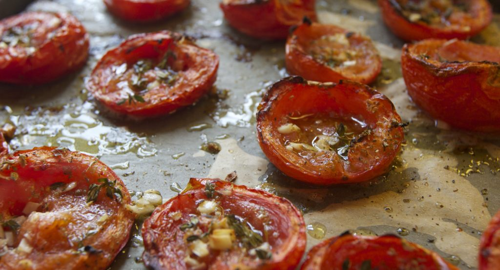 Easy, KId-Friendly Roasted Tomatoes Recipe // Annabode.com