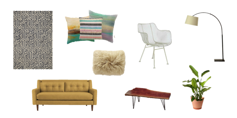 Living Room Style: Mid-Century Bright & Happy
