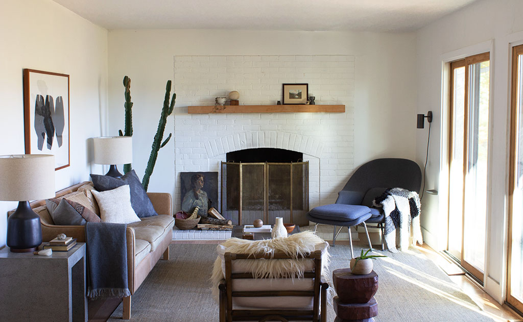 Neutral Modern Earthy Living Room