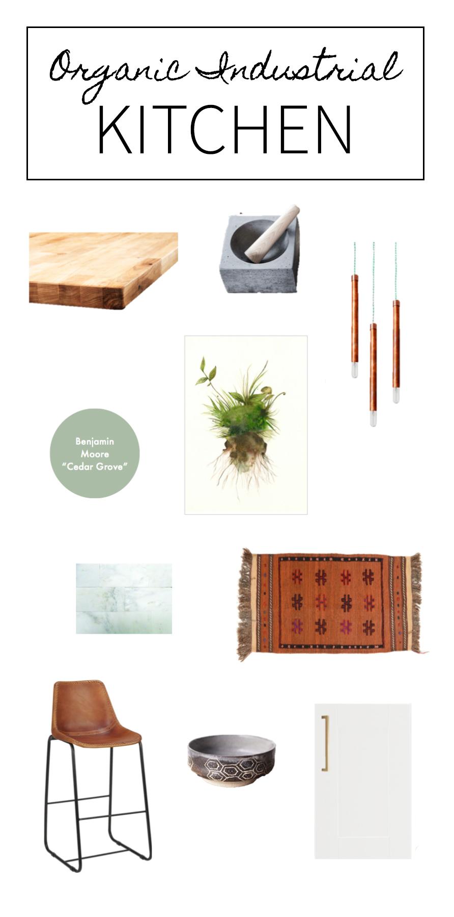 Organic Industrial Modern Kitchen decor