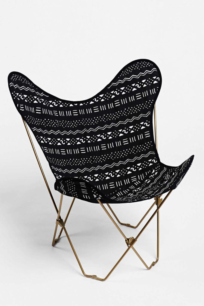 Locust Mari Canvas Butterfly Chair Cover, Urban Outfitters, $59