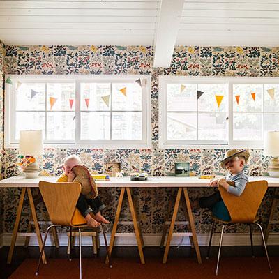 Modern Colonial Home Santa Monica Kids Playroom 0214 L
