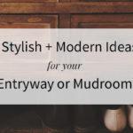Stylish Modern Entryway Or Mudroom