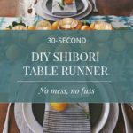 Modern Diy Shibori Table Runner Tutorial