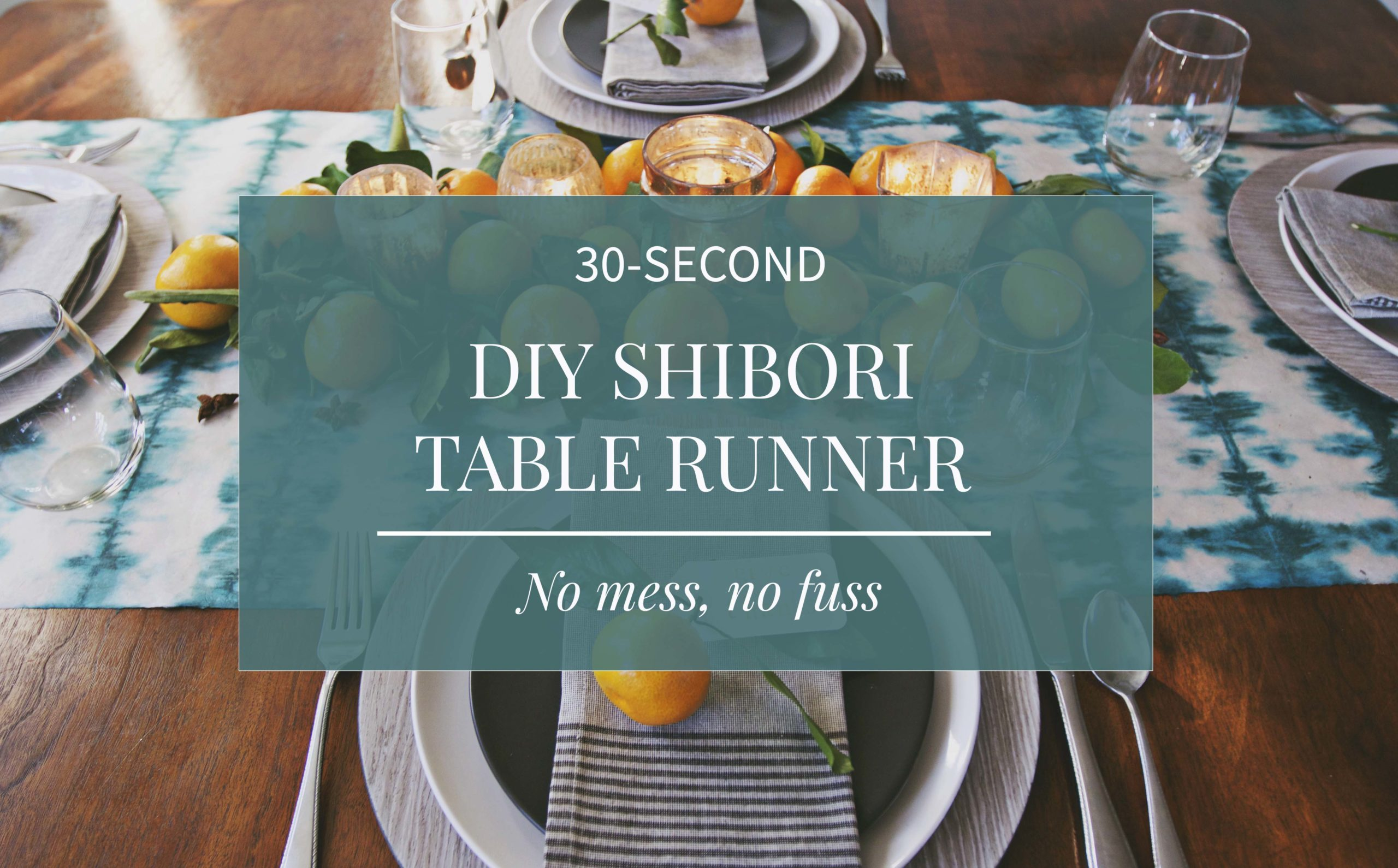 30-Second DIY Shibori Table Runner