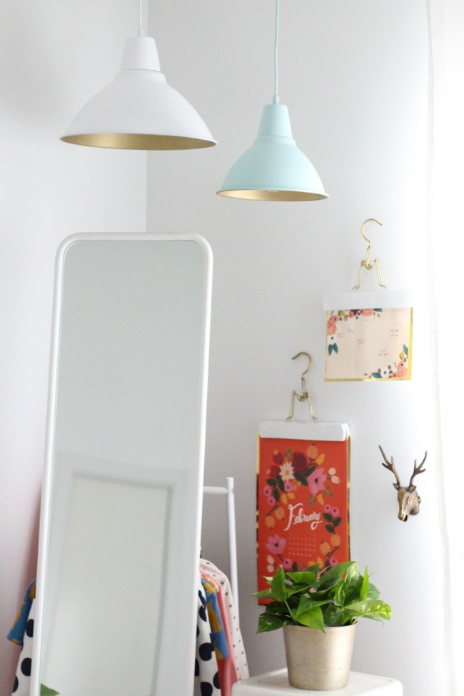 Ikea Hack Gold Spray Paint FOTO Pendant lamp