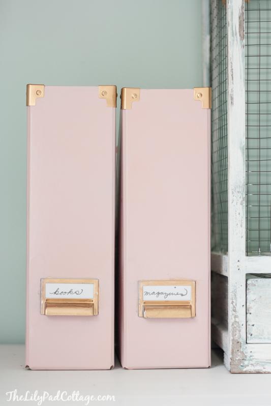 Ikea Hack Gold Spray Paint Kasset Magazine Files
