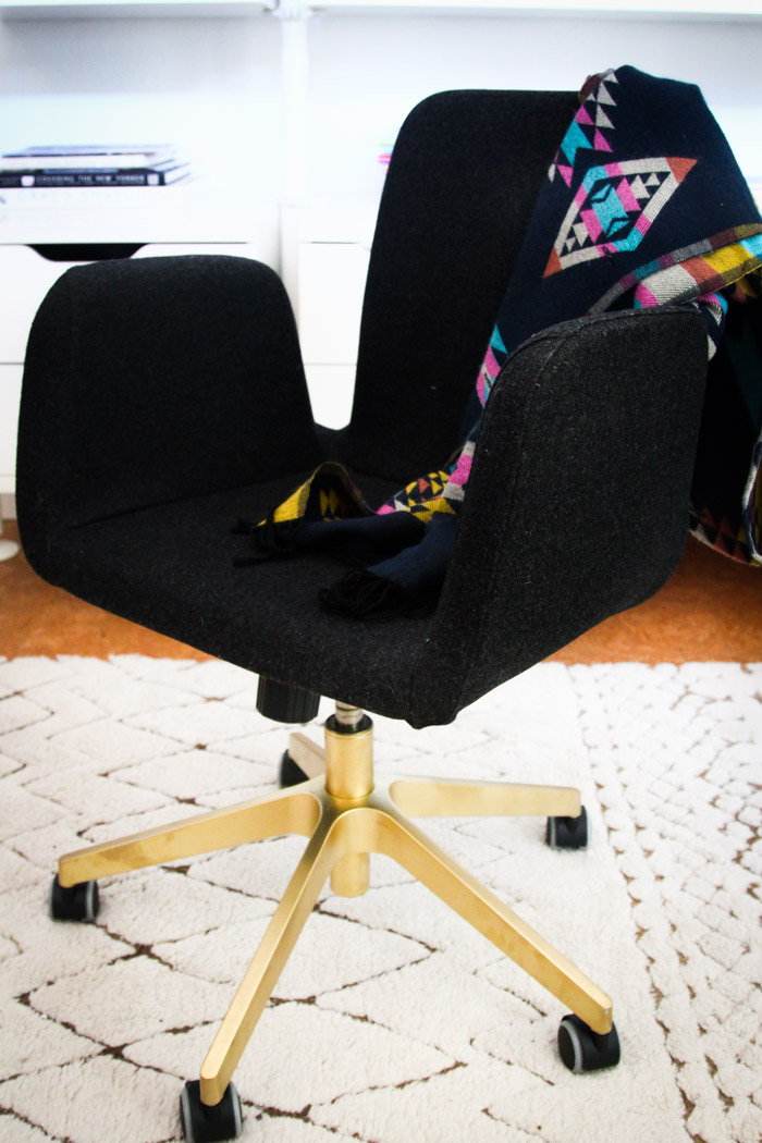 Ikea Hack Gold Spray Paint Patrik Swivel Chair
