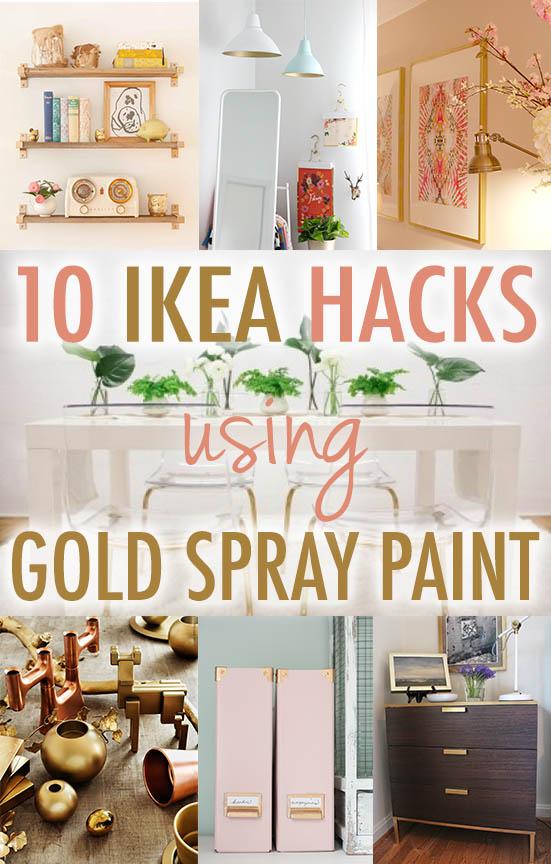 Ikea Hack Gold Spray Paint Pinterest