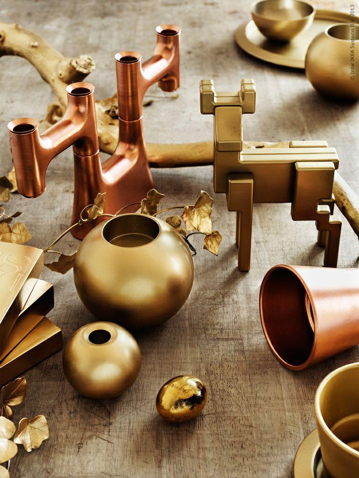 Ikea Hack Gold Spray Paint Samspelt Reindeer