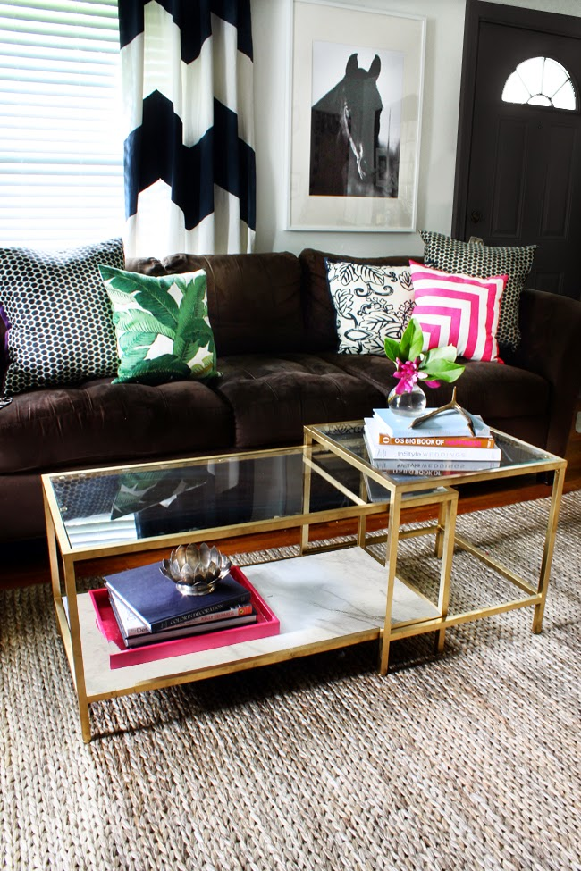Ikea Hack Gold Spray Paint VITTSJO Nesting tables