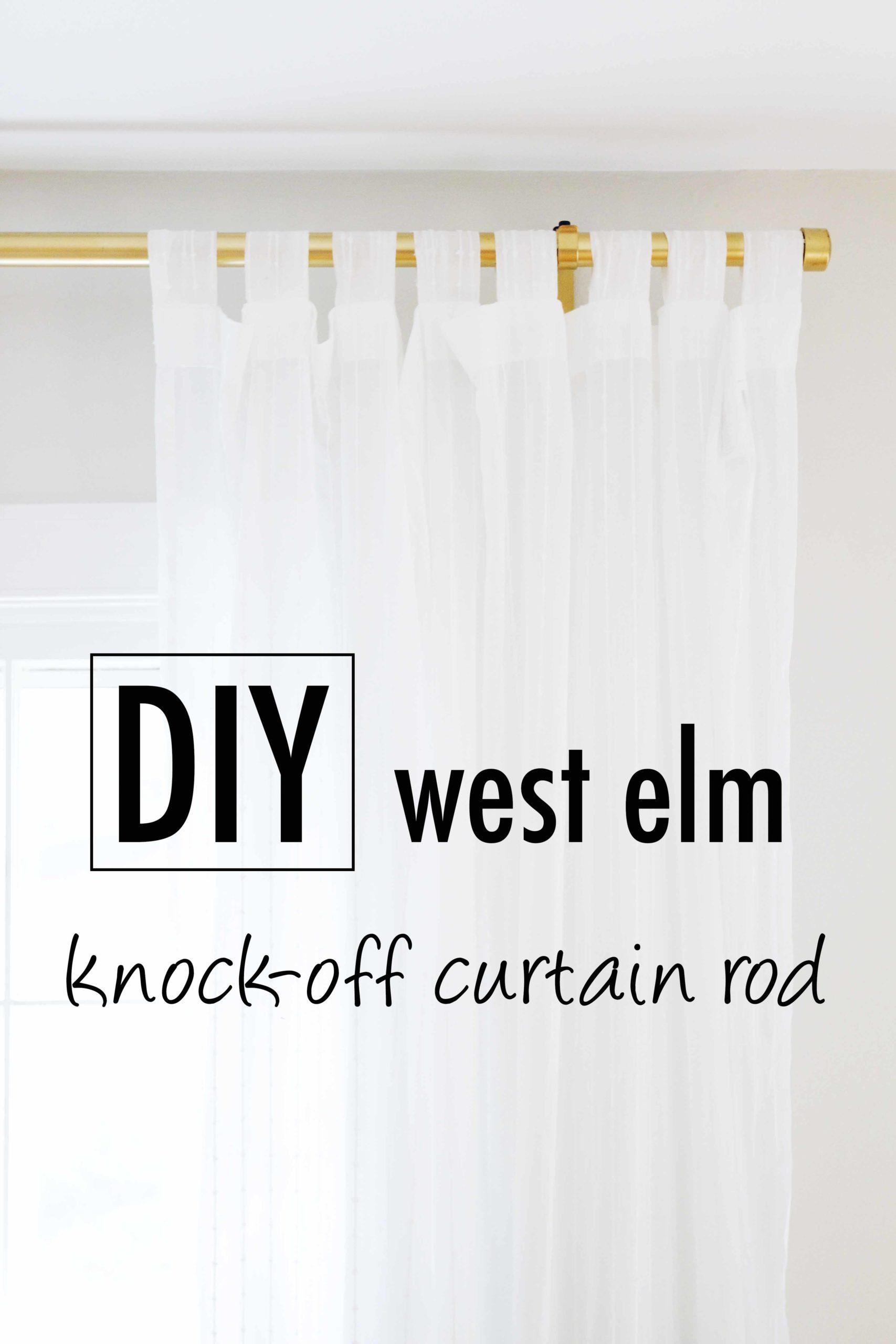 Diy Knock Off West Elm Curtain Rod Hack