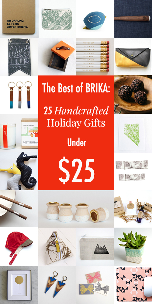 handcrafted holiday gifts under $25