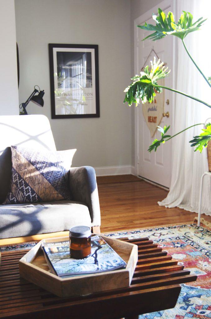 How To Design Update Modern Living Room Blue Velvet Sofa 5