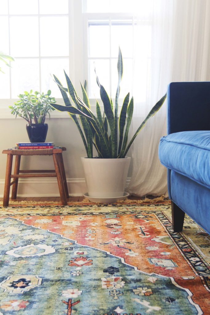 How To Design Update Modern Living Room Blue Velvet Sofa 6