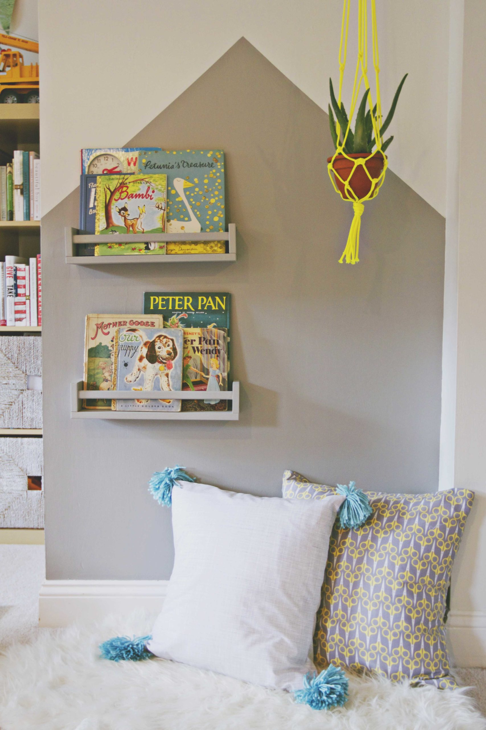 Modern Playroom Reading Nook 7
