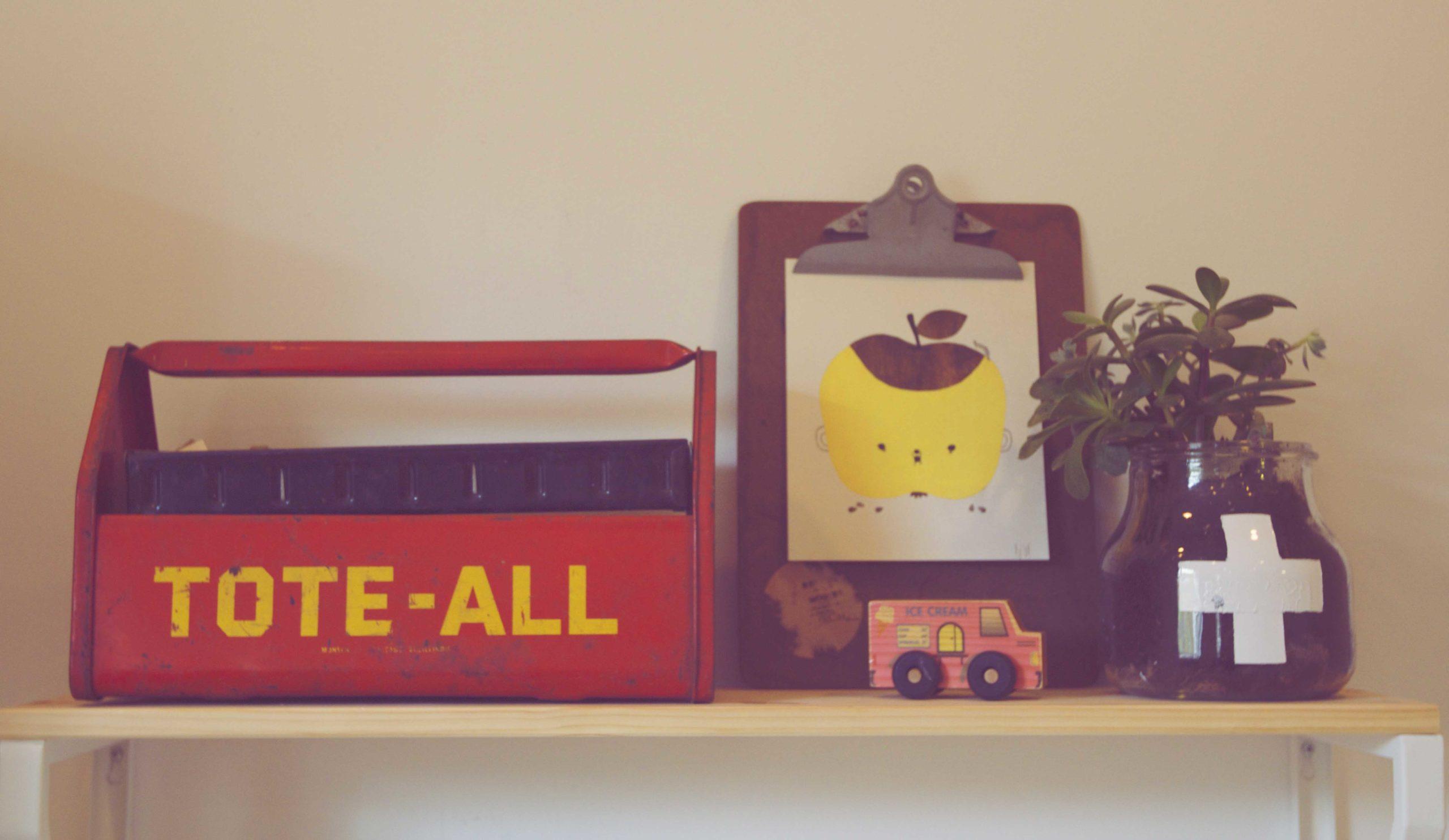 Modern Playroom Shelf