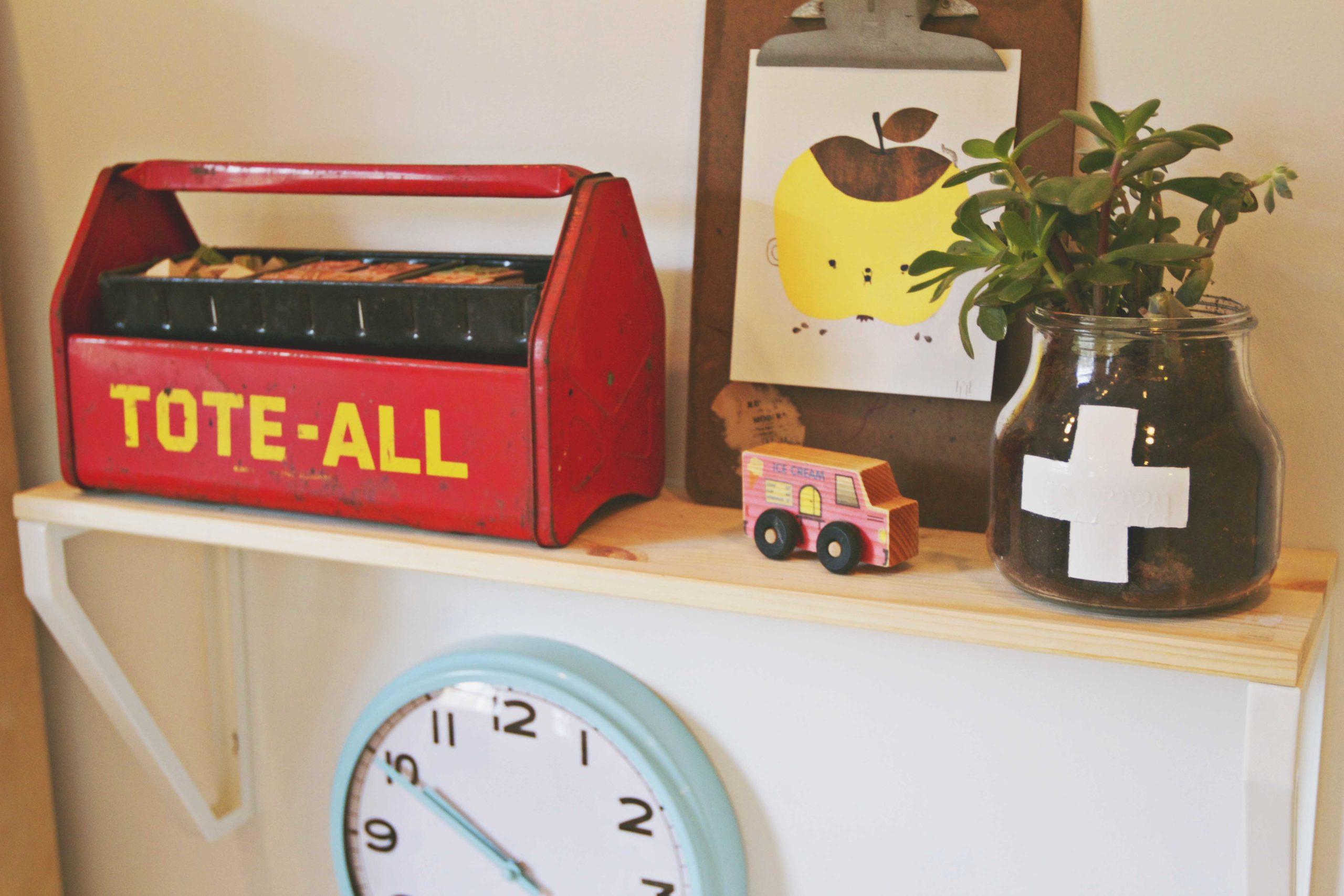 Modern Playroom Shelf 1