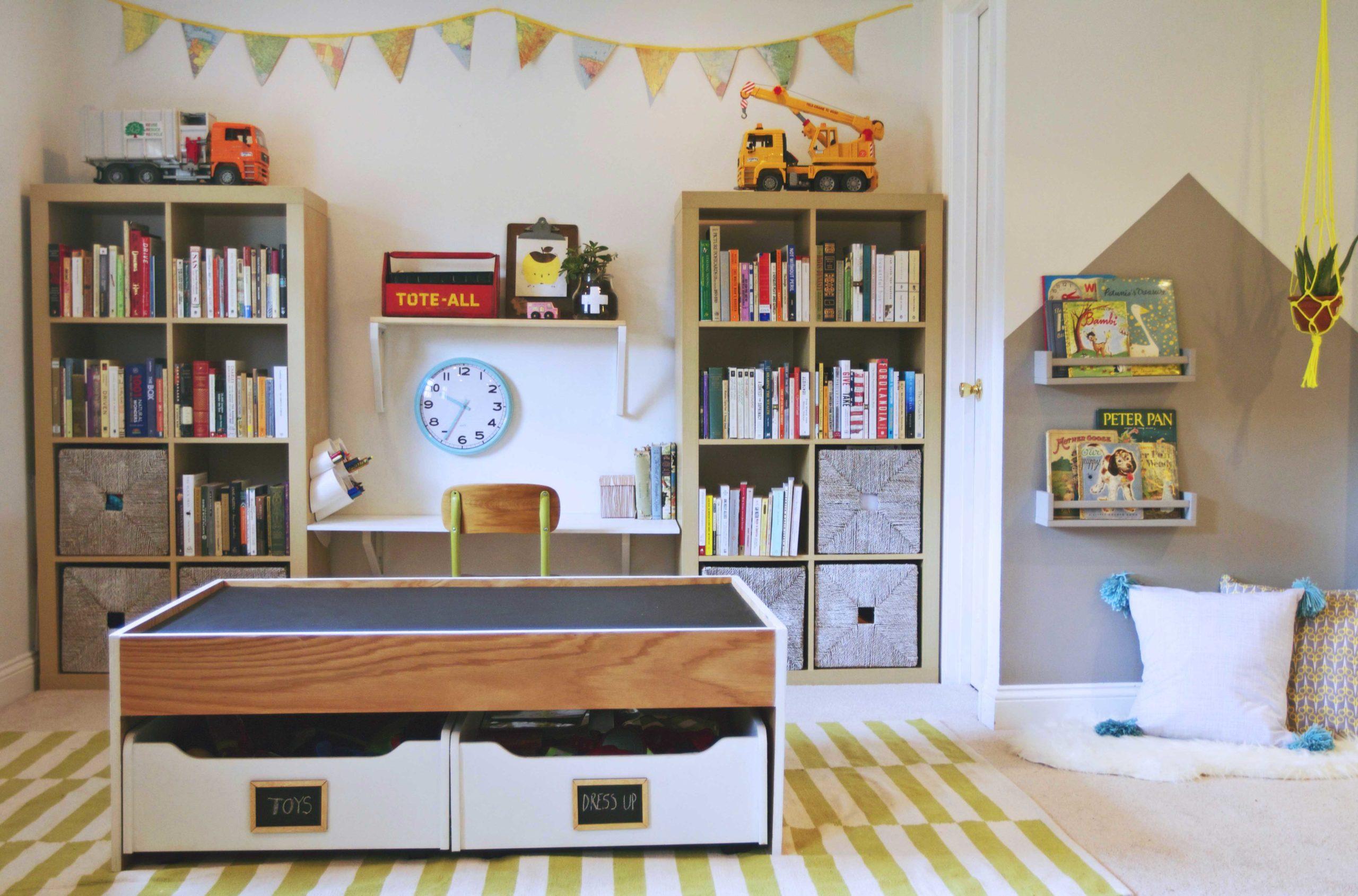 Modern Playroom Toy Storage