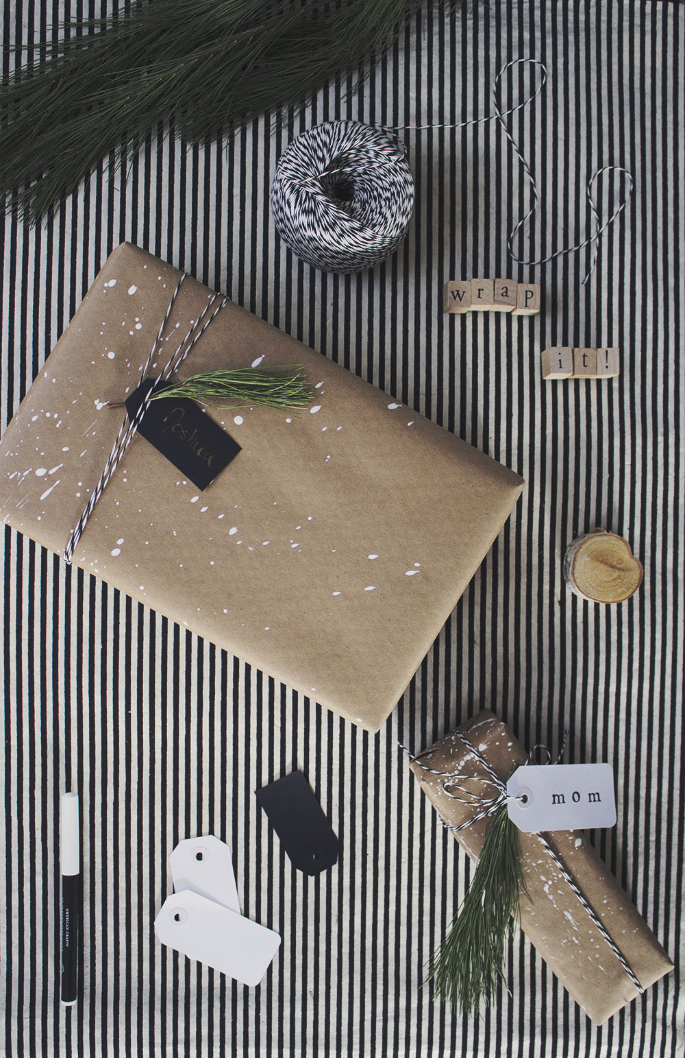DIY Modern Christmas Gift Wrap Ideas