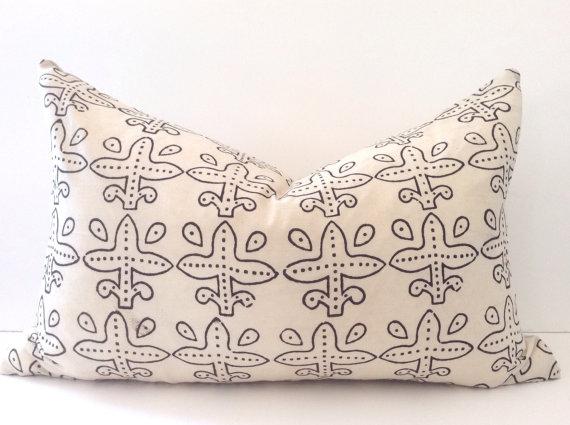 Indian Block Print Lumbar Pillow