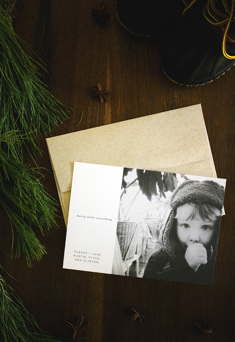 Modern Christmas Holiday Photo Cards