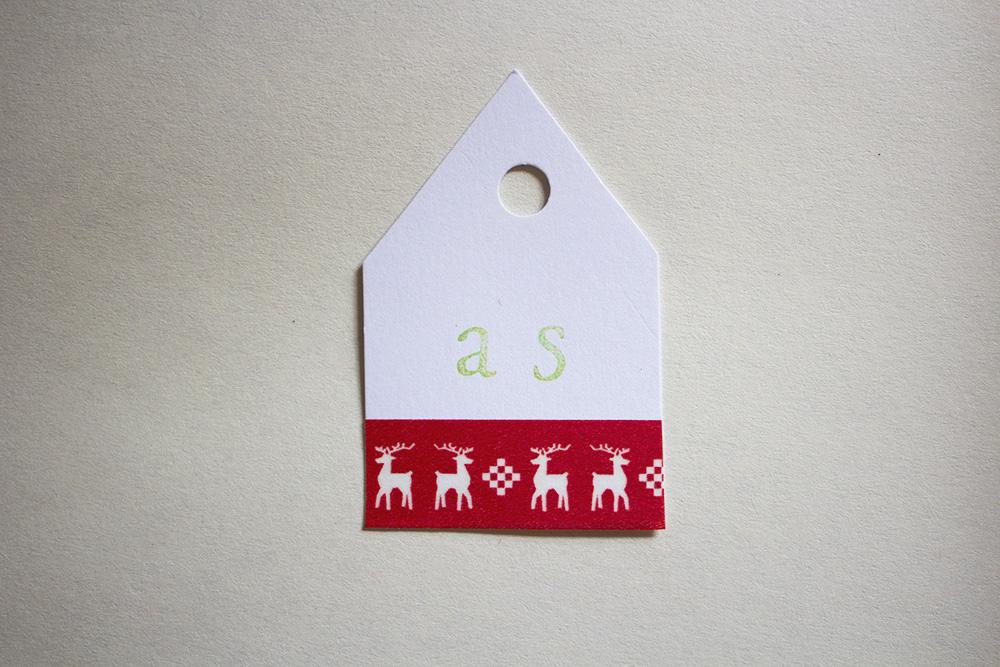 DIY Scandinavian Christmas Place Cards