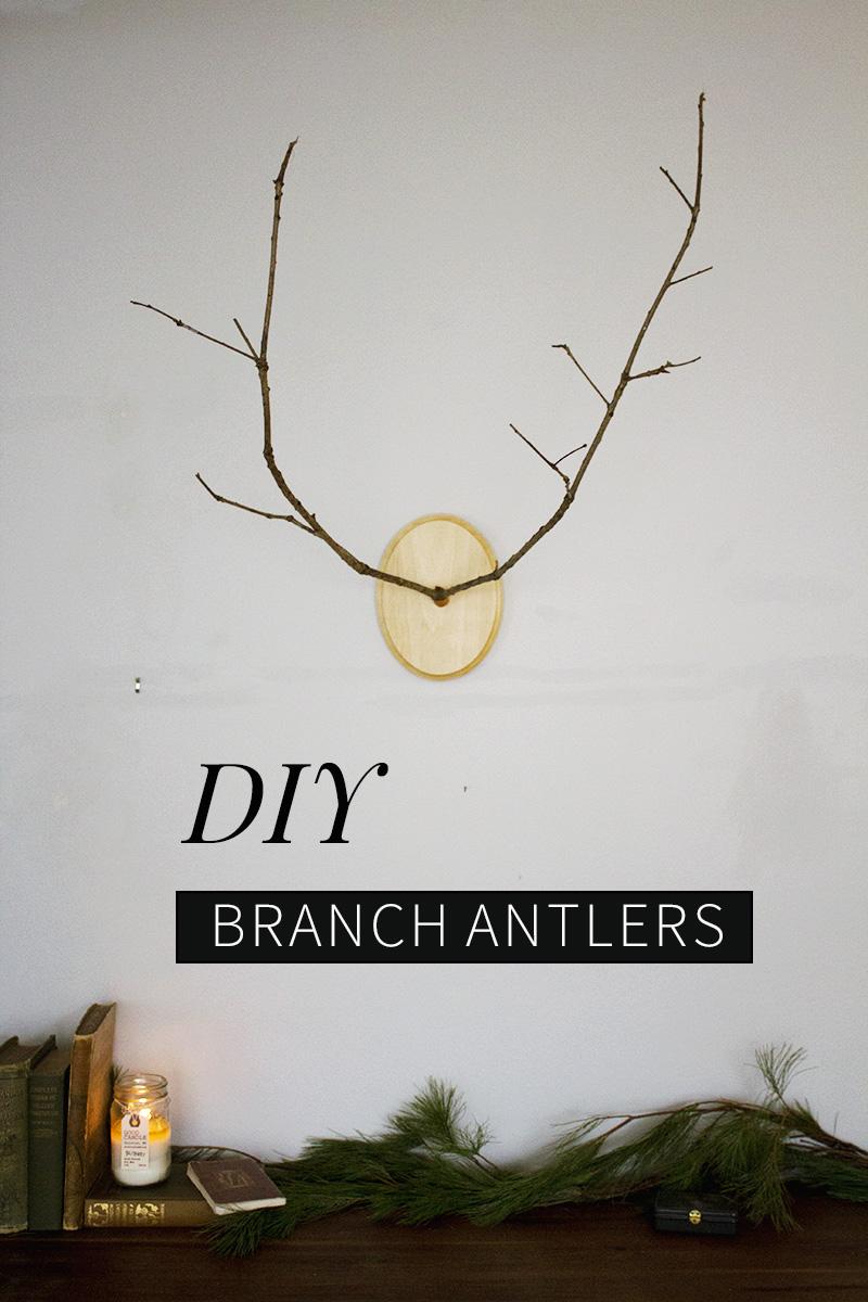 DIY Branch Antlers Tutorial