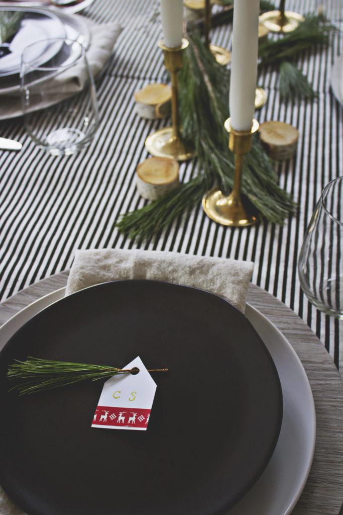 Scandinavian Diy Christmas Place Cards
