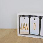 Diy Modern Desk Calendar 13