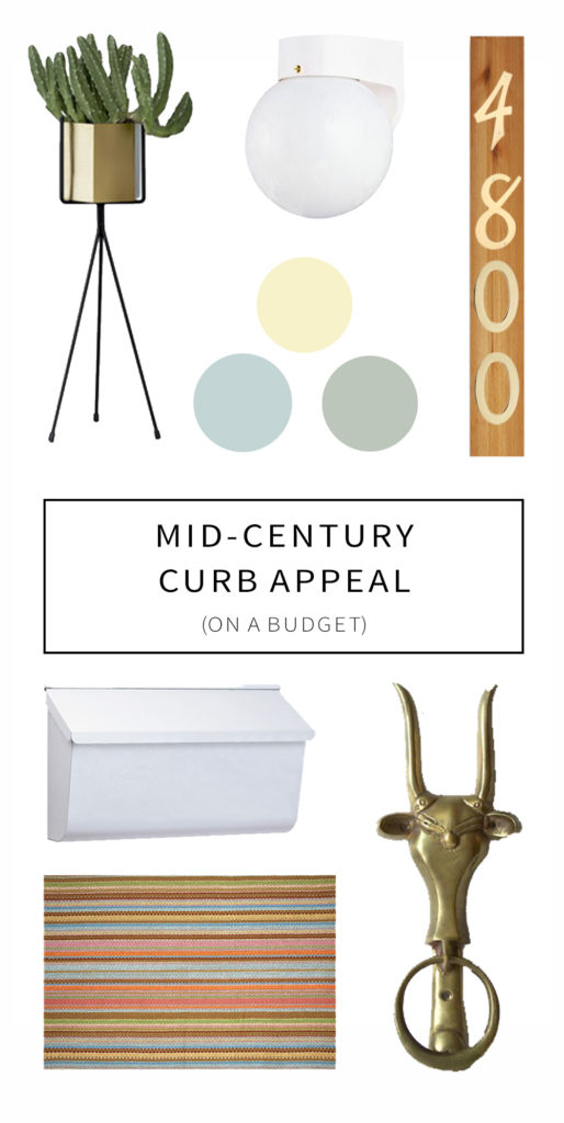 Mid-Century Curb Appeal on A Budget