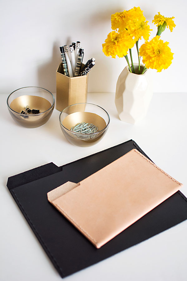 Leather File Folders from Homey Oh My!