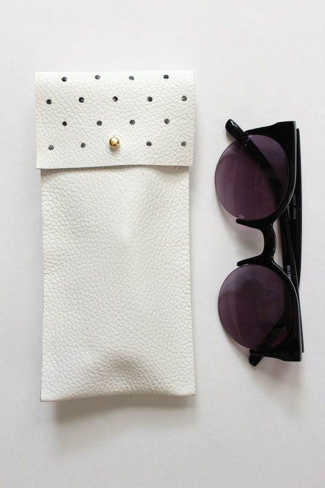 Leather Glasses Pouch by See Kate Sew