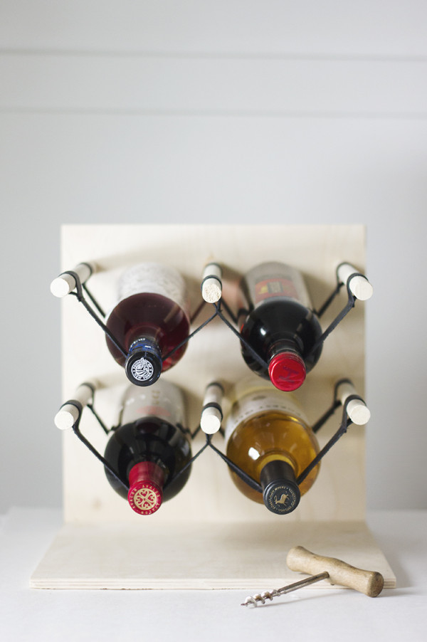 Leather Wine Rack by The Merrythought