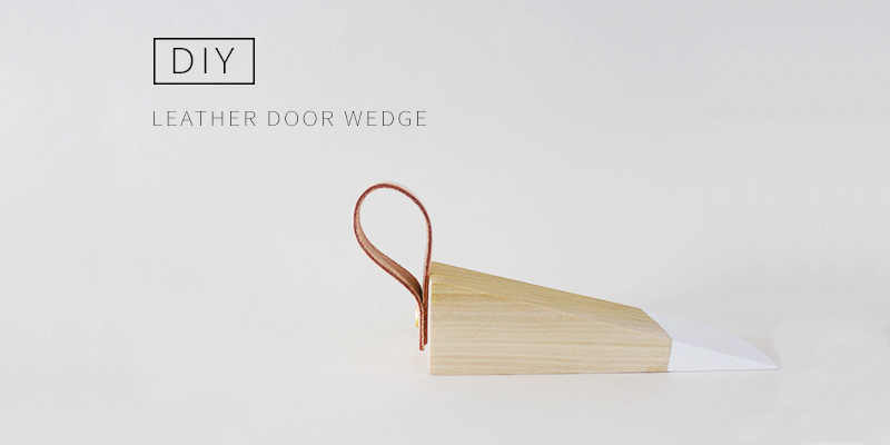 DIY Leather Door Wedge