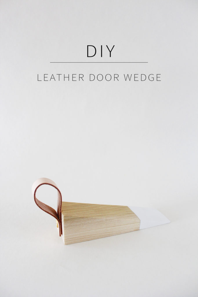 diy leather door wedge annabode. Black Bedroom Furniture Sets. Home Design Ideas