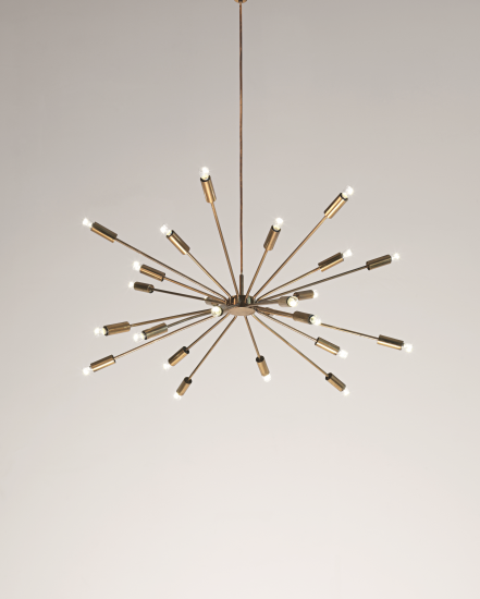 Gino Sarfatti, Sputnik Ceiling Light, 1950s.  Via Phillips Auctions.