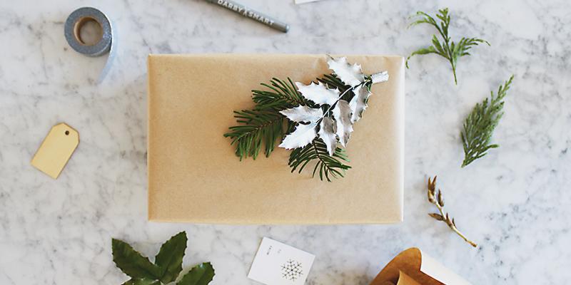DIY Modern Christmas Gift Wrap featuring GAP + Darby Smart!