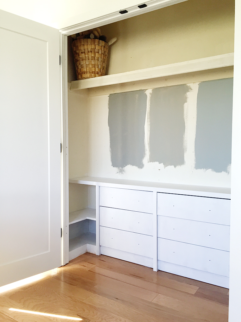 Ikea Hack: Built-In Dressers for the Closet