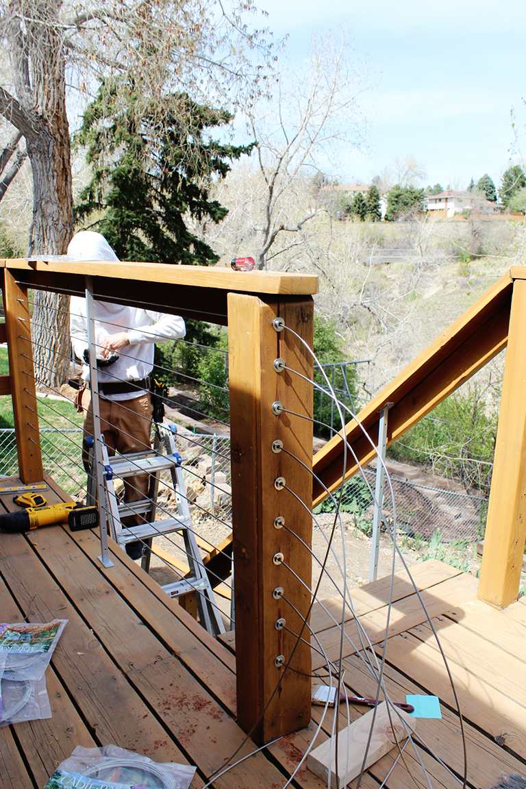 Picture of: How To Install Diy Cable Rail Annabode Denver S 1 Sustainable Interior Design Firm