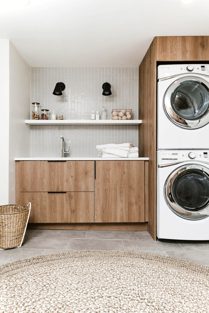 DIY Modern Laundry Room Reveal on Annabode + Co.