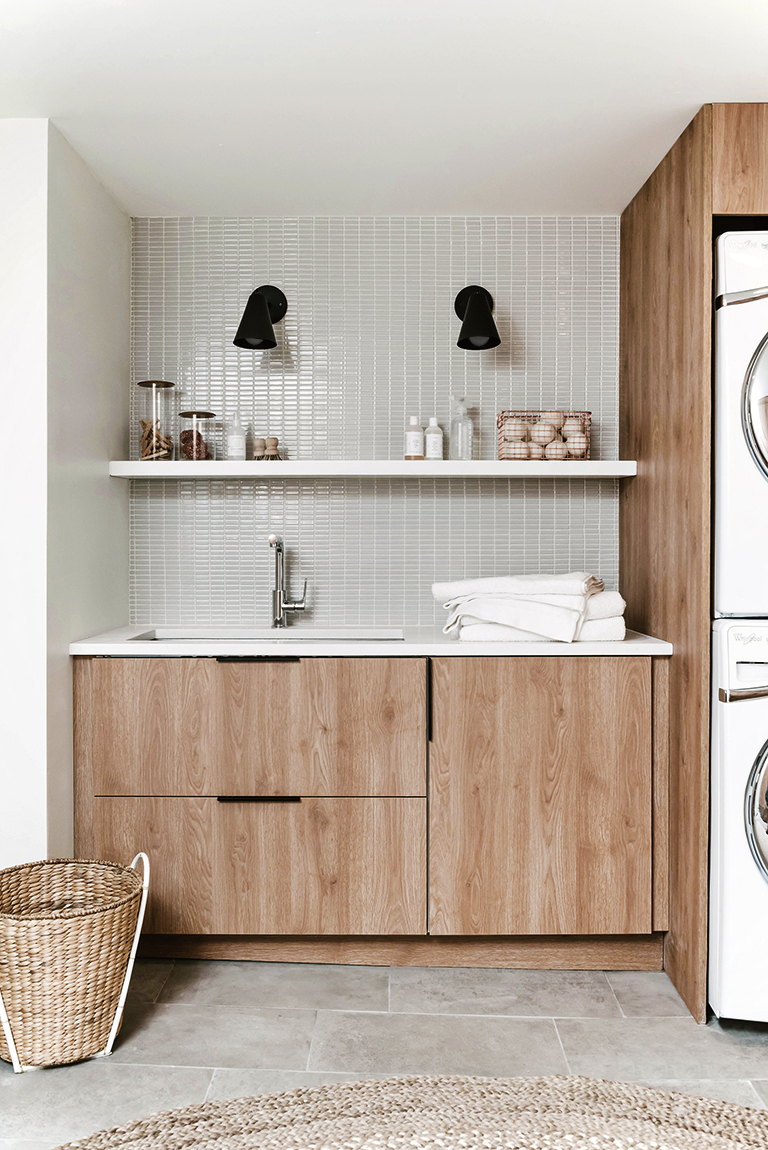 Our DIY Modern Laundry Room Reveal with Semihandmade