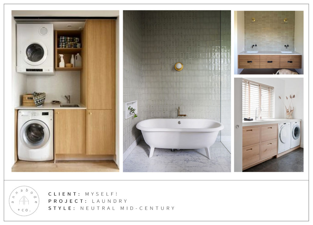 DIY Modern Laundry Room Reveal on Annabode + Co.