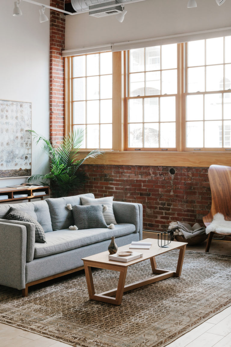 A Modern Industrial Living Room Reveal With Guest House - Annabode - Denver