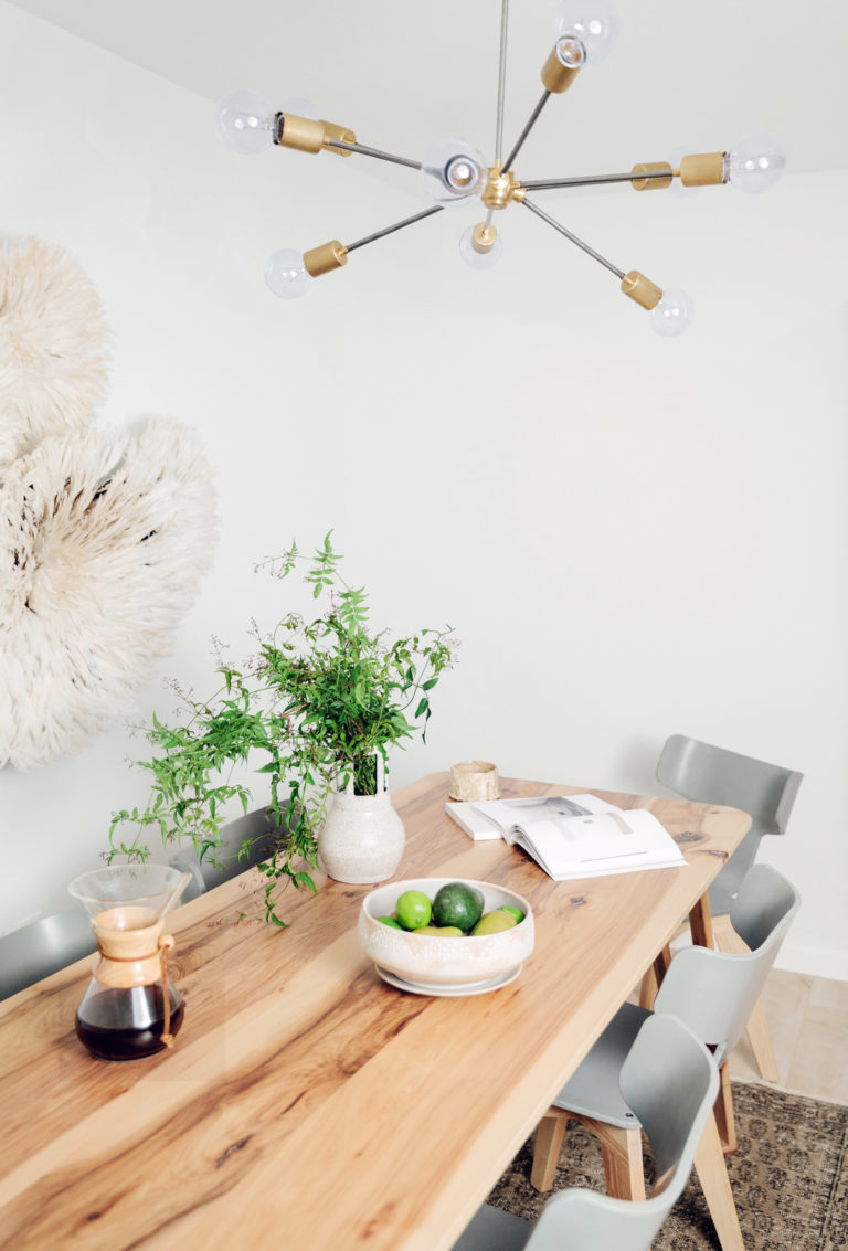 A Neutral Modern Dining Room with Guest House 10