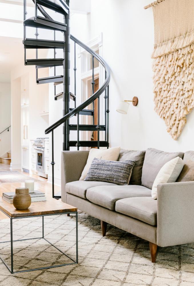 spiral-staircase-living-room-denver-co