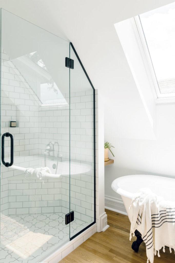 Glass Shower Door White Tile Annabode Interior Design